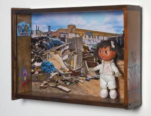 Dora the Explorer (from the TOYOLOGY series) 11.75''h x 23.25''w x 5.875''d Mixed Media Assemblage AVAILABLE